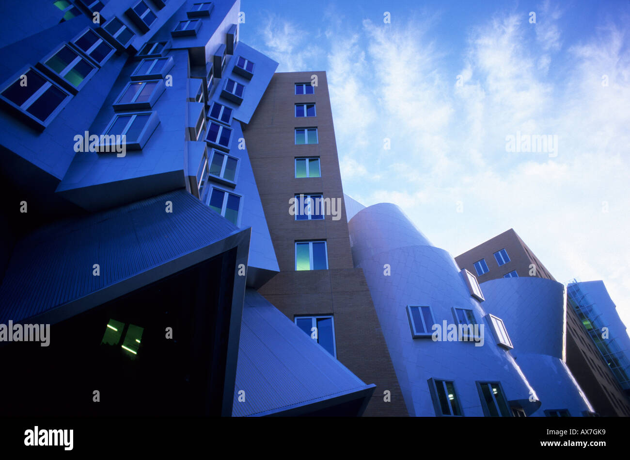 Stata Center at MIT, designed by Frank Gehry, Cambridge, Boston, Massachusetts, USA - Stock Image