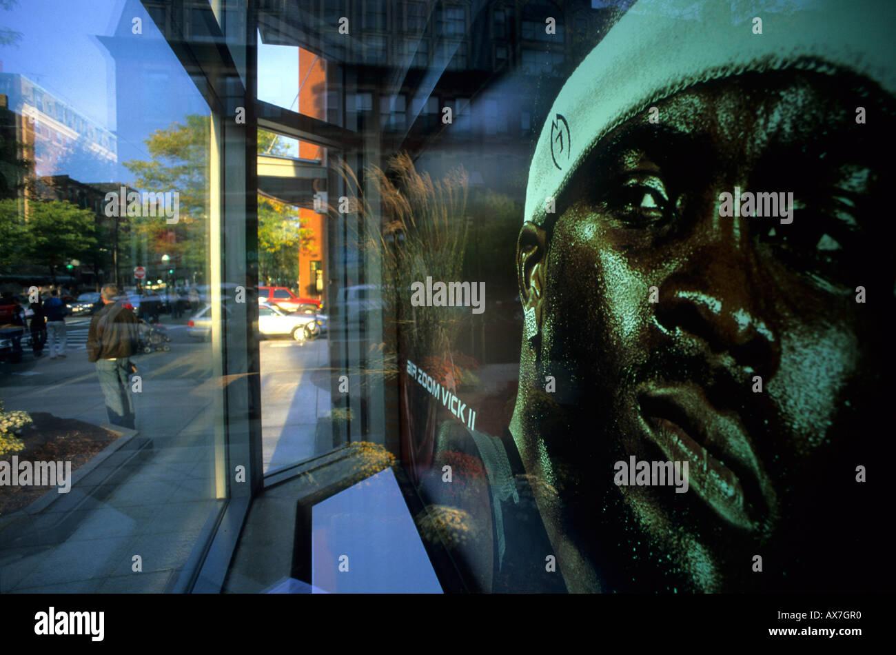 Shoppingmile Newbury street, Boston, Massachussetts United States, USA - Stock Image