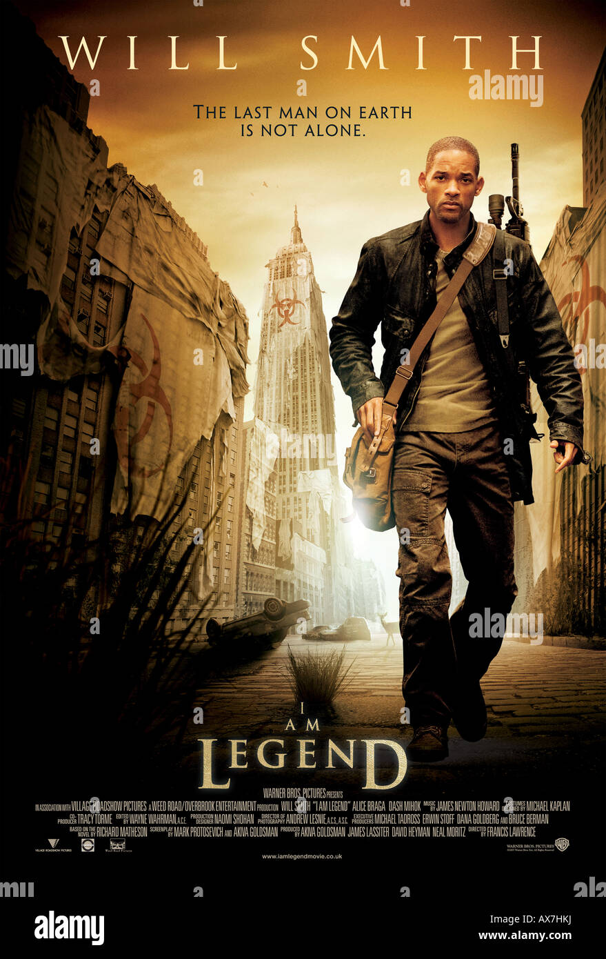 I Am Legend Poster For 2007 Warner Bros Film With Will