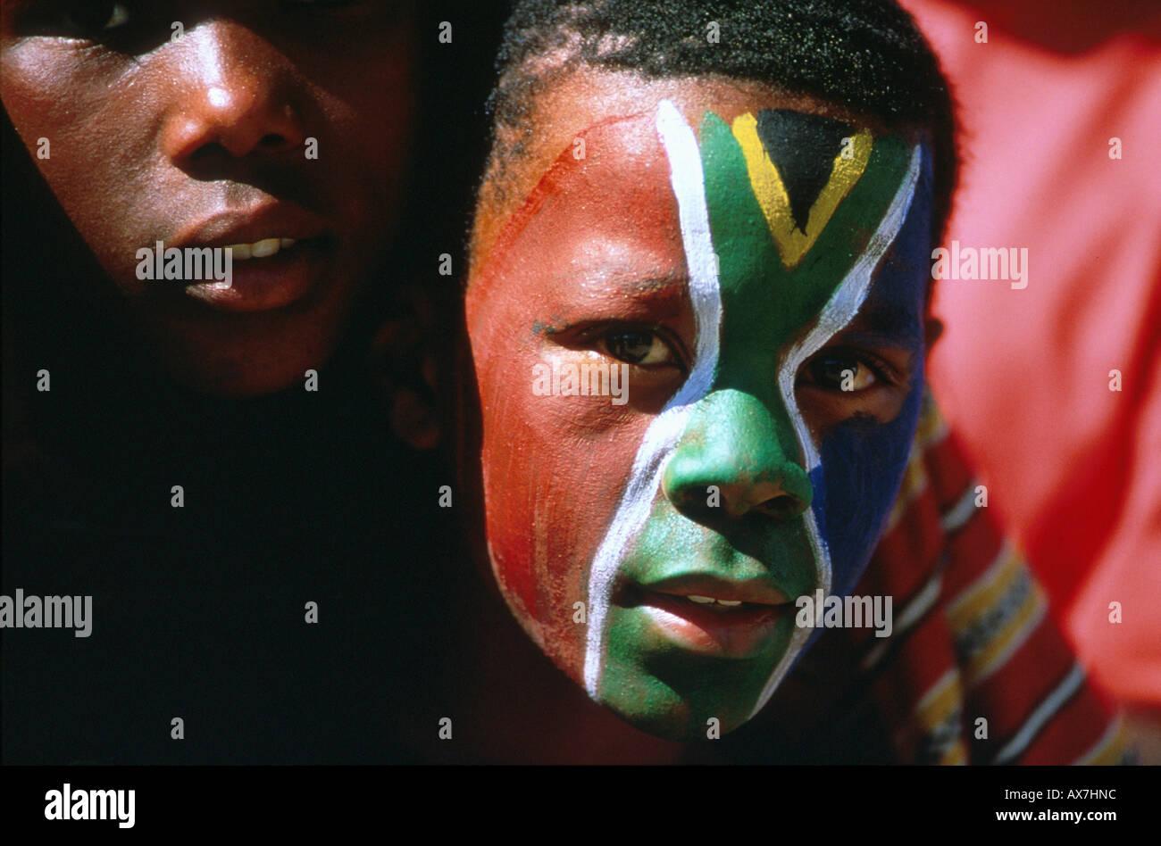 Fussballspiel, Soweto-Stadion, Johannesburg Suedafrika - Stock Image