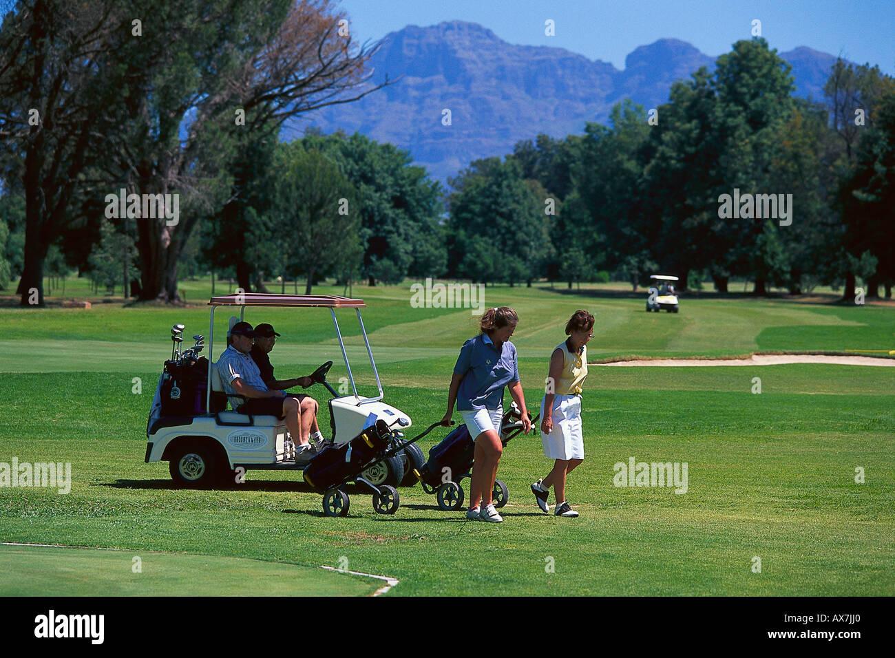 Golfplatz Stellenbosch, Kapregion Suedafrika - Stock Image