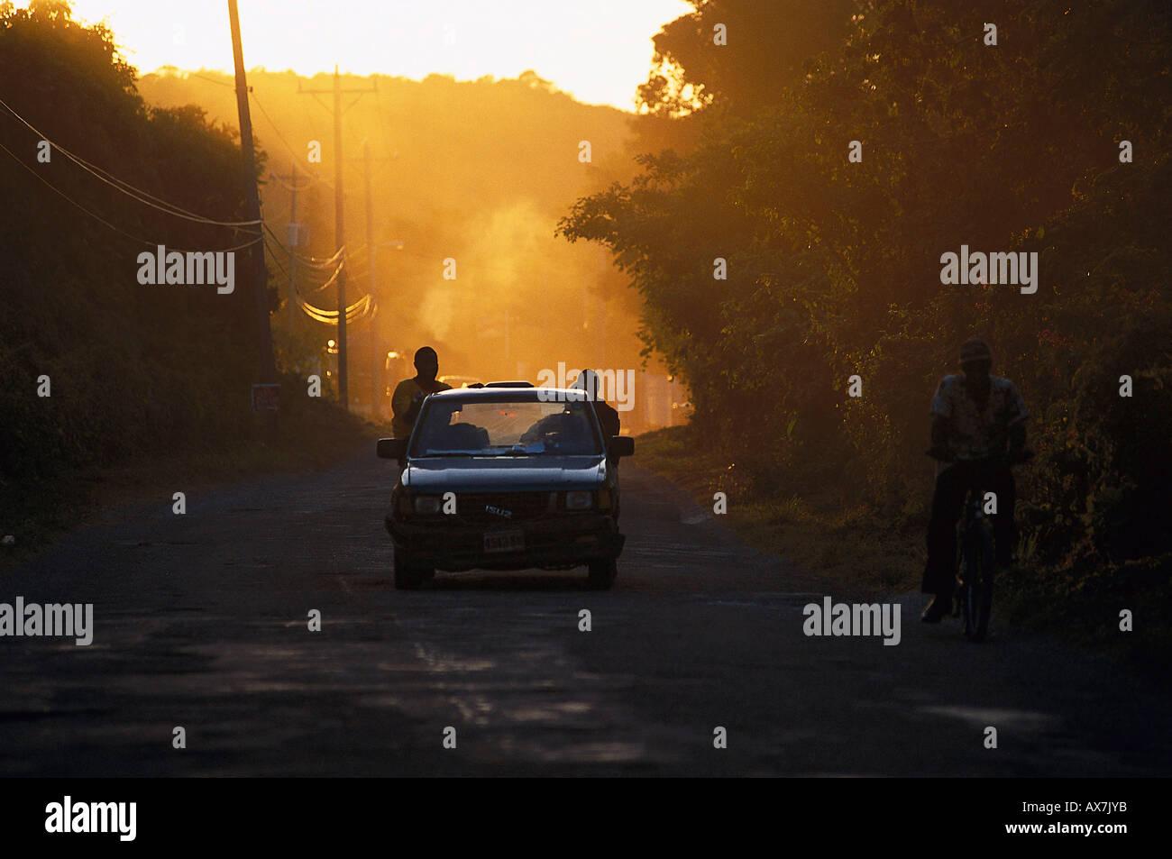 Strassenverkehr, Portland Jamaika, Karibik - Stock Image