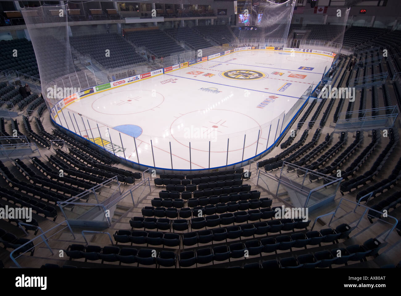 The K Rock Centre ice pad and spectator seats in Kingston Ontario Feb 25th 2008 - Stock Image