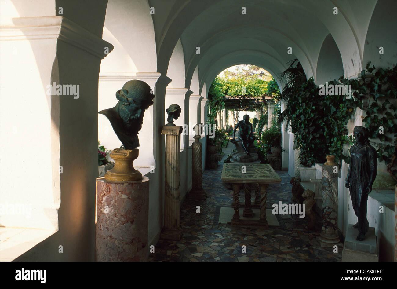Villa San Michele, Anacapri, Capri, Kampanien Italien - Stock Image