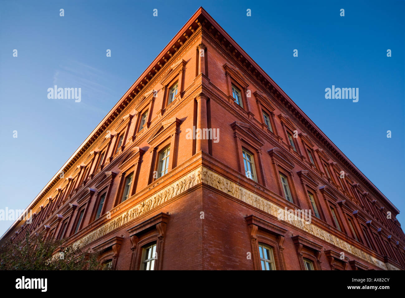 Corner of The National Building Museum Washington, D.C. US USA - Stock Image