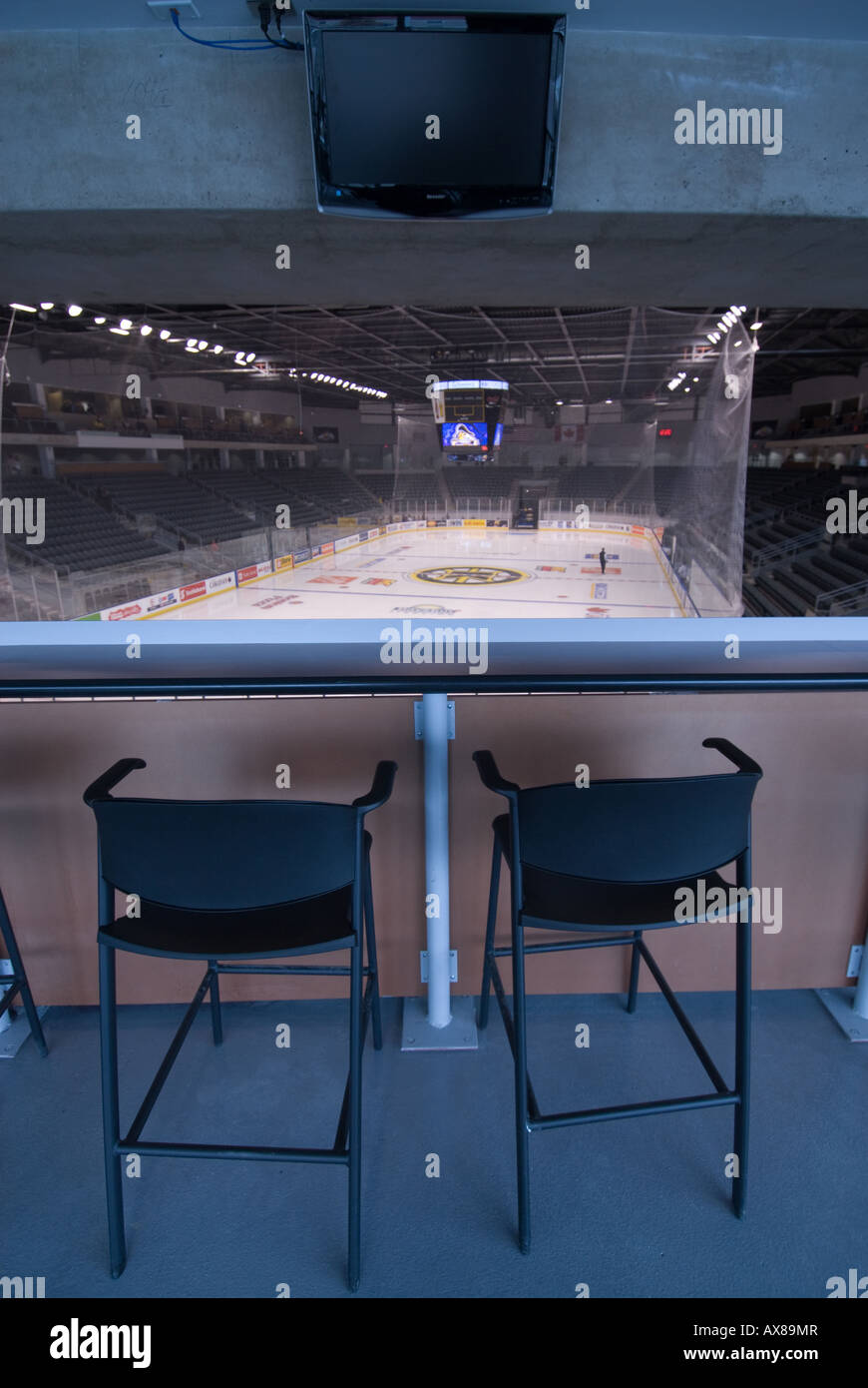 Two spectator seats in the newly built K Rock Centre in downtown Kingston Feb 25th 2008 - Stock Image