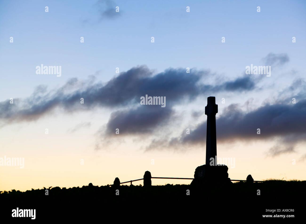 Memorial for the Battle of Flodden Field, near Branxton, Northumberland, England Stock Photo