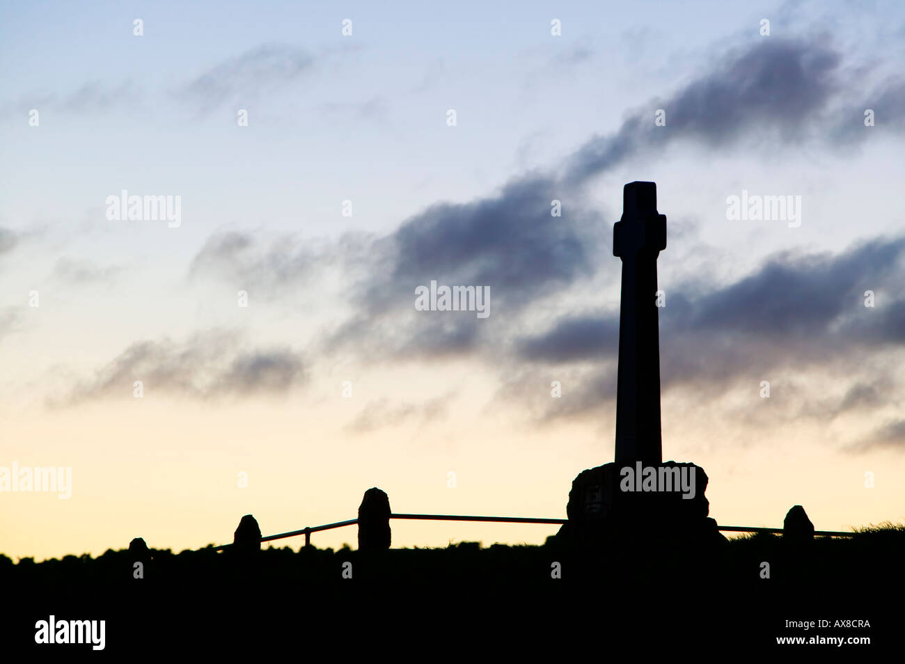 Memorial for the Battle of Flodden Field, near Branxton, Northumberland, England Stock Photo