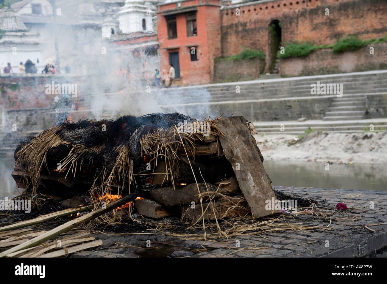 Cremation in Katmandu - Stock Image