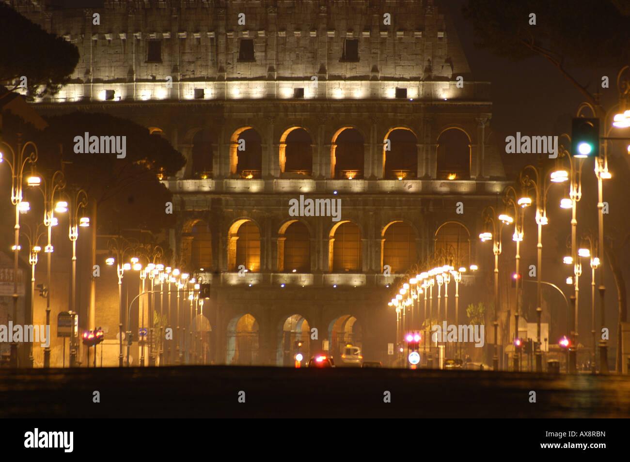 The Colosseum - View from the Via dei Fori Imperiali - Roma Lazio Italy Stock Photo