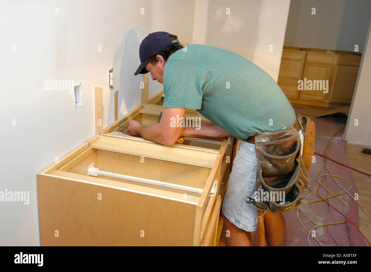 Install Kitchen Cabinets High Resolution Stock Photography And Images Alamy