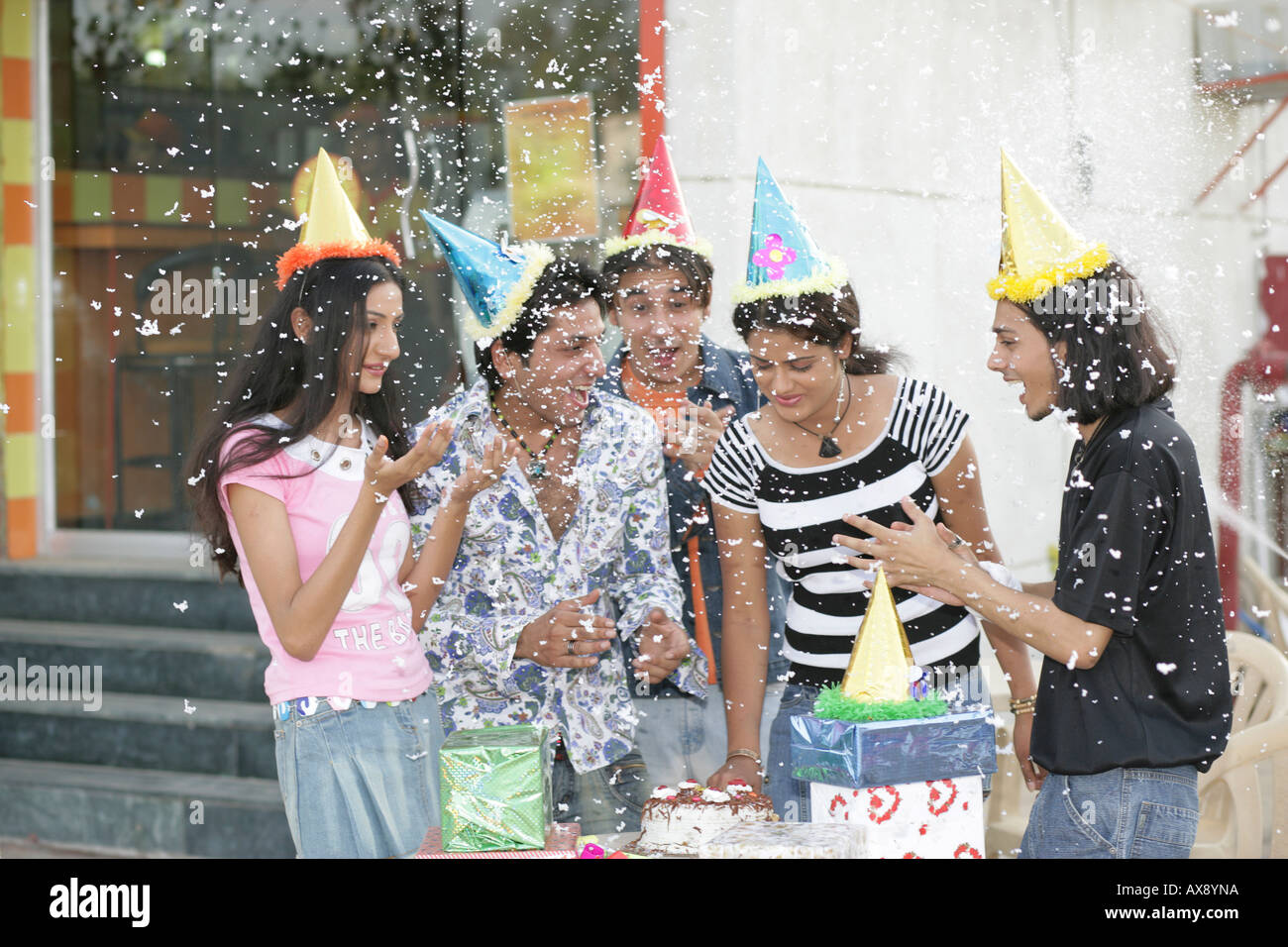 Nude young girls at birthday party