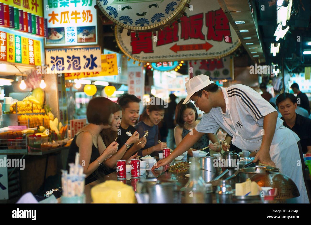 Shilin Nachtmarkt, Taipeh Taiwan - Stock Image
