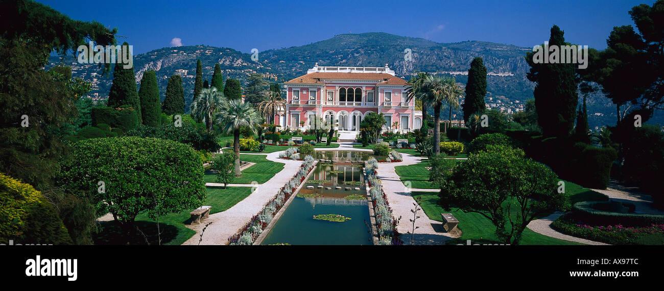 Villa Ephrussi de Rothschild, Cap Ferrat, Cote d'Azur, Provence, France - Stock Image