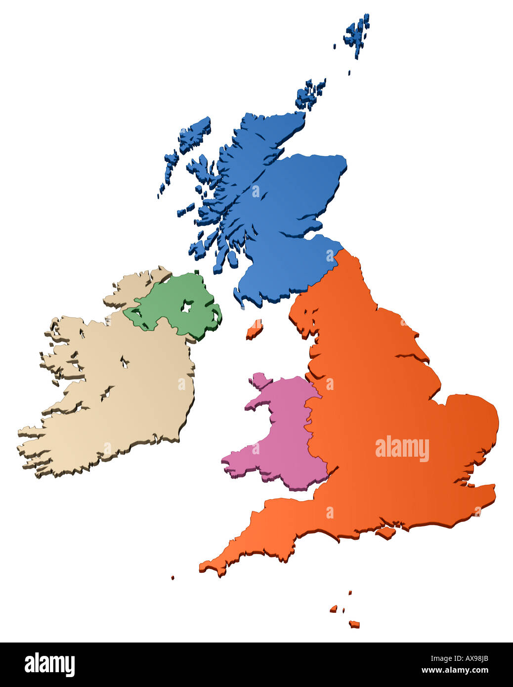 Great Britain Map Stock Photos Great Britain Map Stock Images