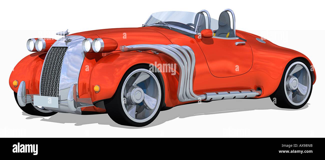 Retro Roadster - Stock Image