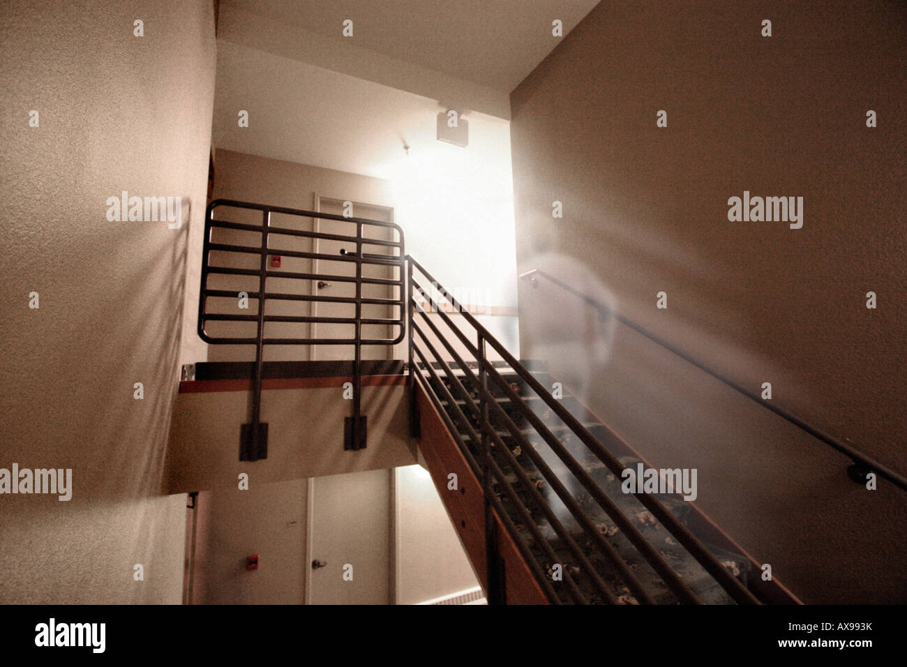'Ghost' on stairs - Stock Image