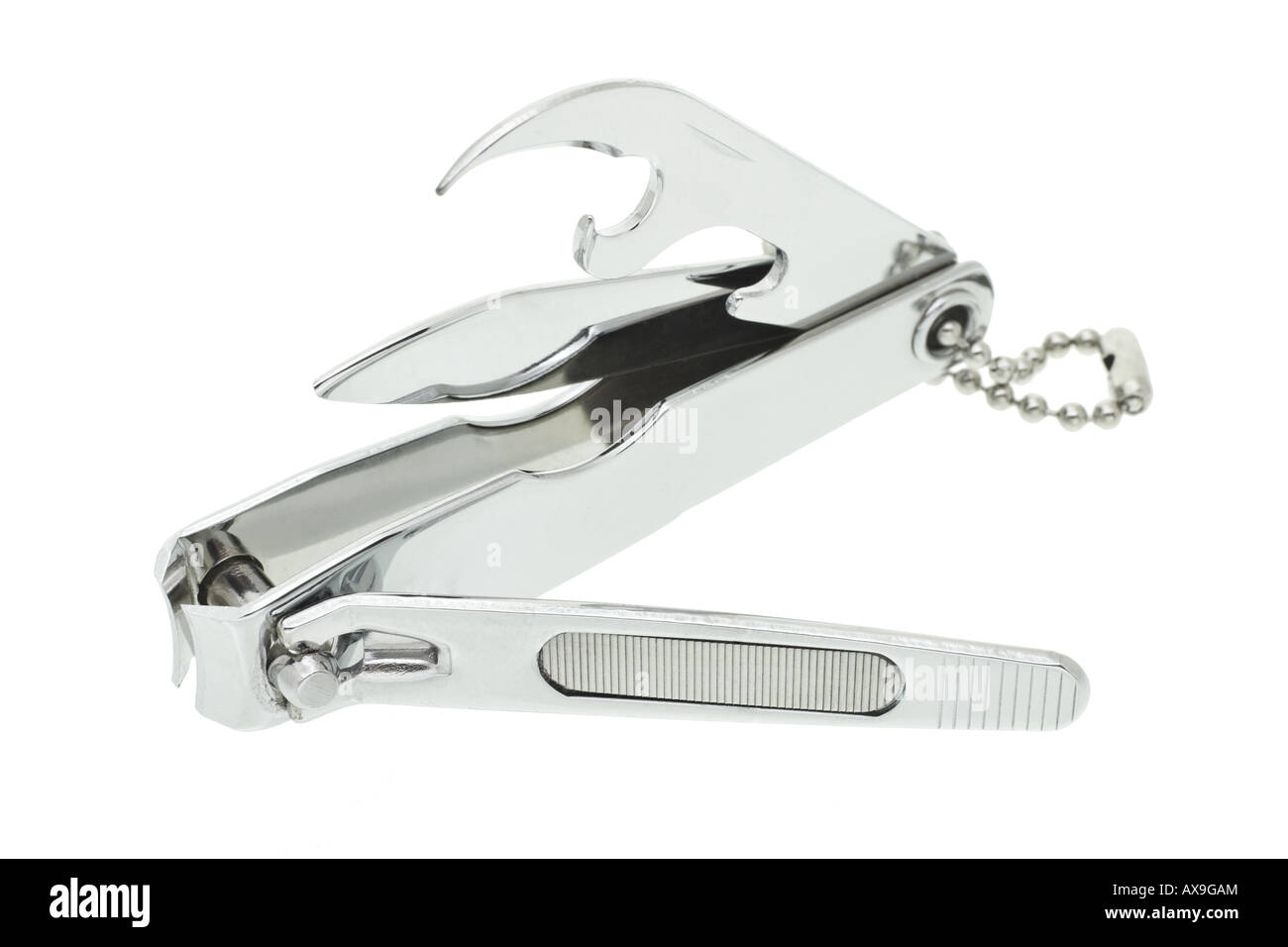 Multi functions nail clipper on white background Stock Photo ...