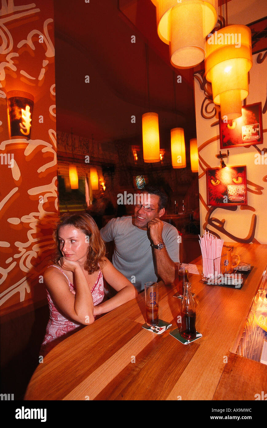 Buho Bar, La Laguna, Tenerife, Canary Island Spain - Stock Image