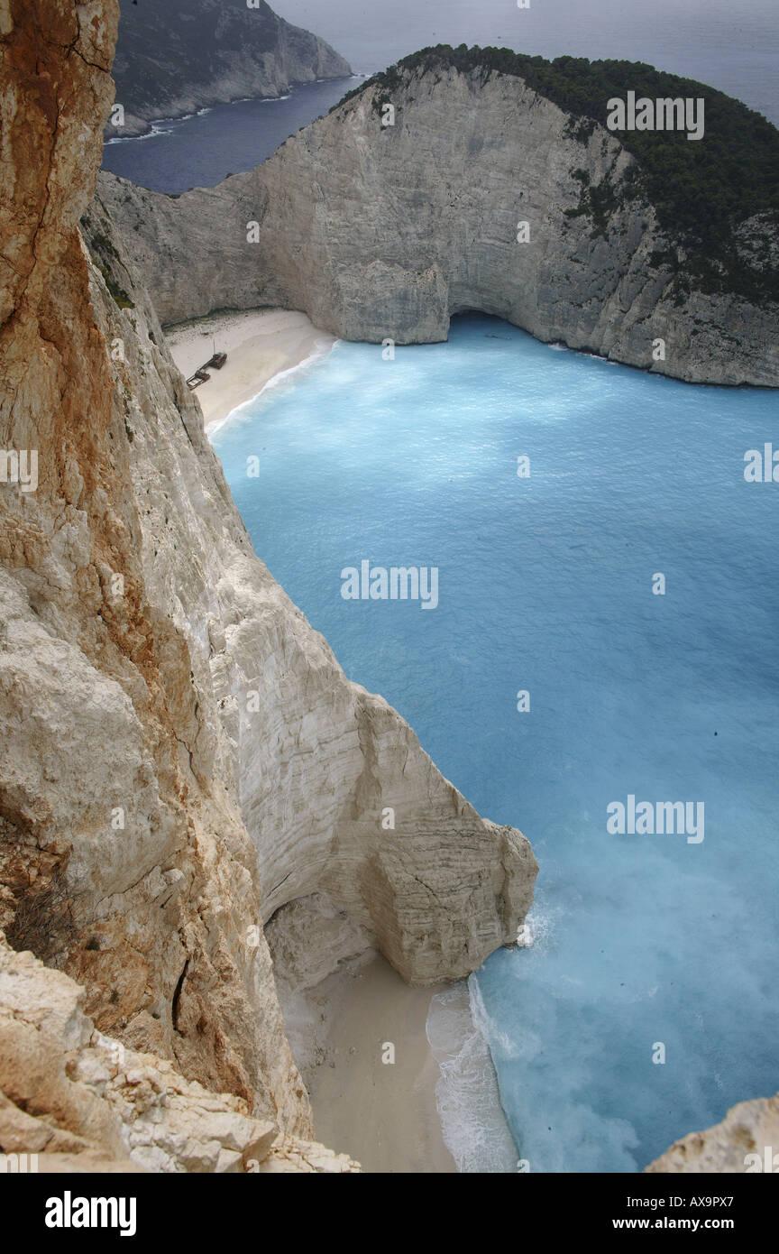 Shipwreck Bay, Zakynthos Island, Ionian Islands, Greece - Stock Image