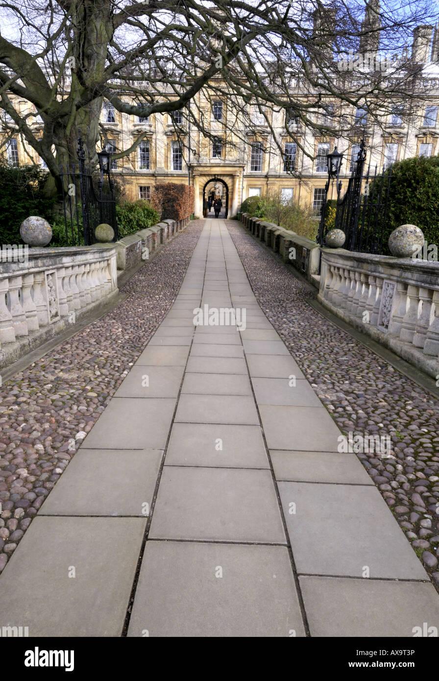 Clare college Cambridge UK - Stock Image