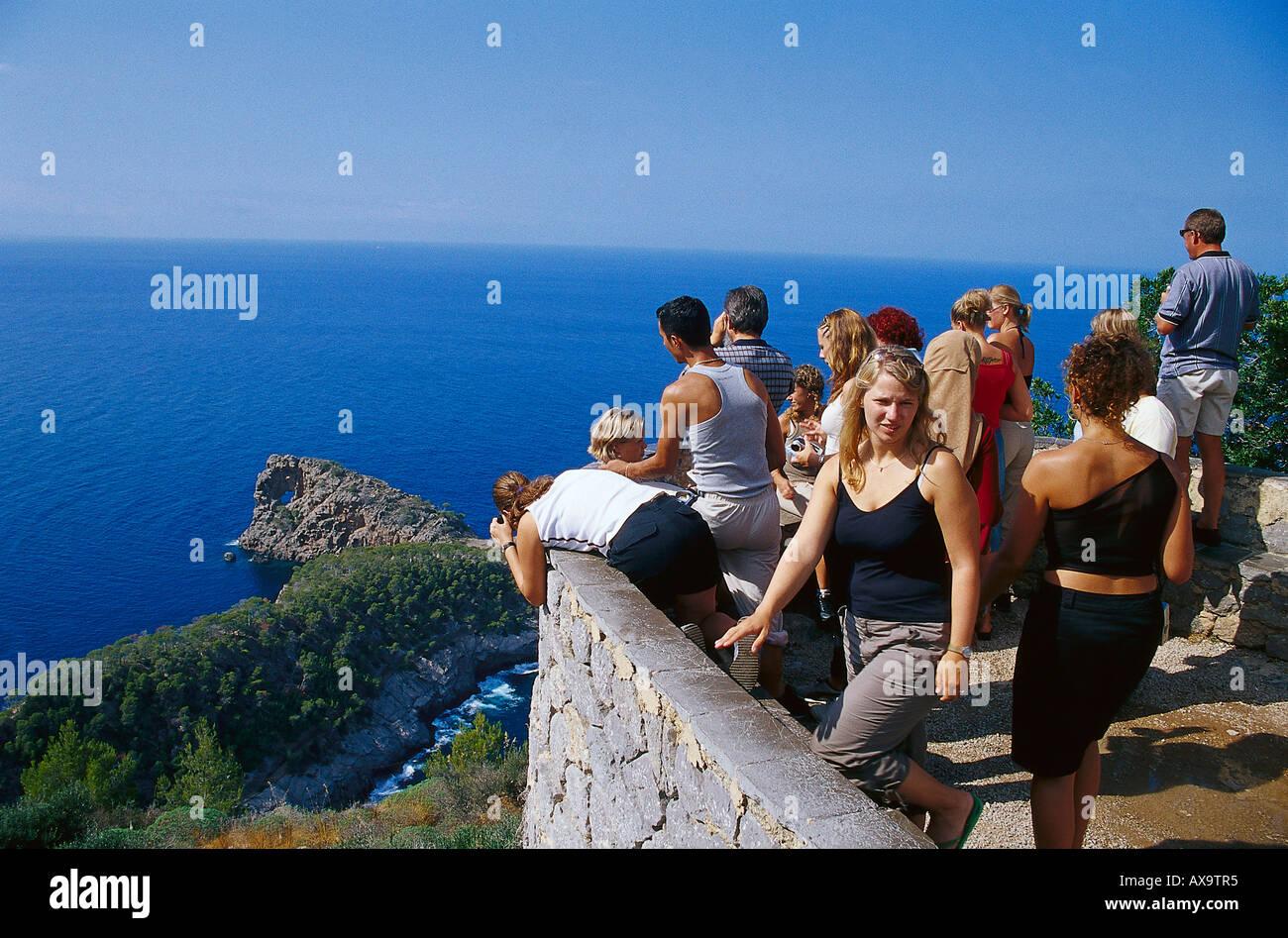 View to Sa Foradada, Majorca, Spain - Stock Image