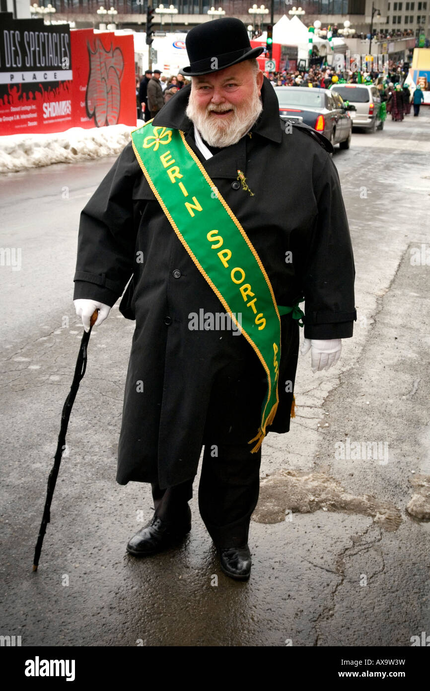 St Patrick's Day Parade on March 16, 2008 in Montreal, Quebec, Canada. - Stock Image