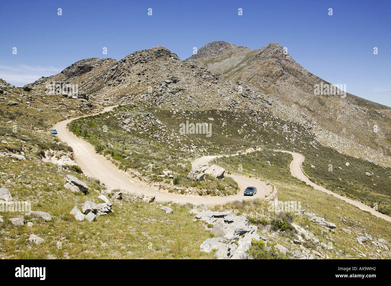 Top of Swartberg Pass, Swartberg Pass to Prince Albert over the Groote Swartberge, Western Cape, South Africa - Stock Image