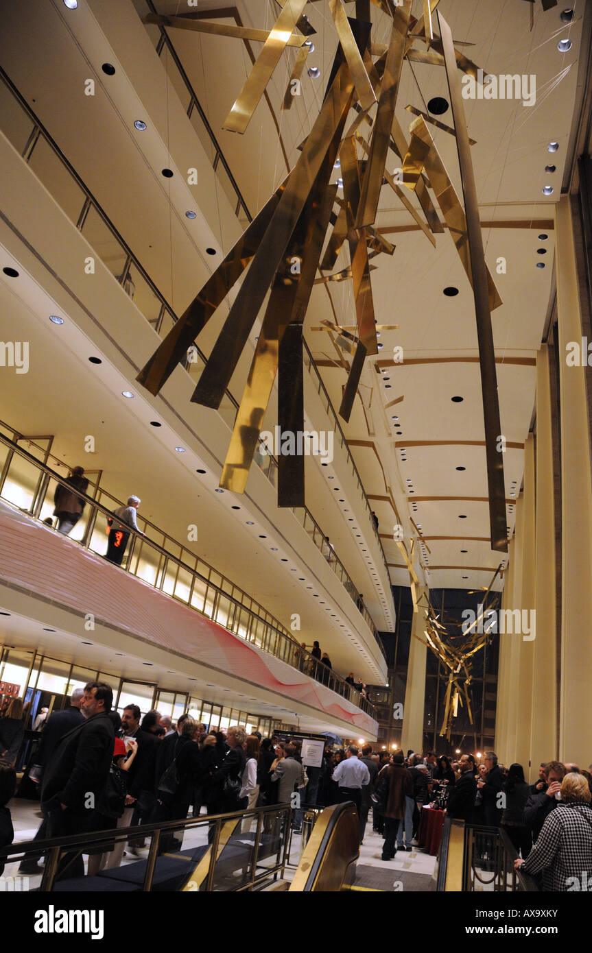 Intermission at a New York Philharmonic concert held at Avery Fisher Hall in Lincoln Center. - Stock Image