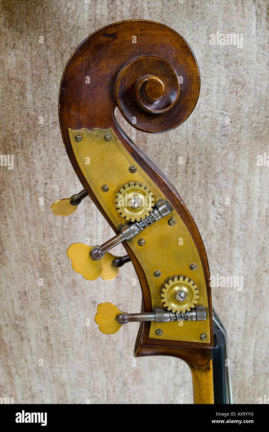 contrabass closeup - Stock Image