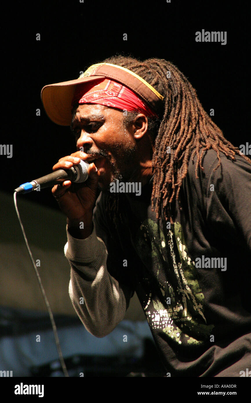 Reggae Artists performing at Alfreds Ocean Palace Negril Jamaica March 07 - Stock Image