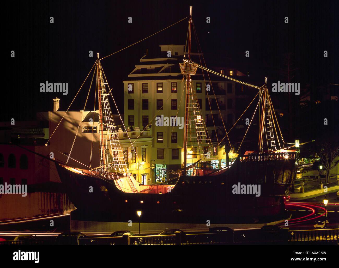 Kolumbus-Schiff, Schiffahrtsmuseum, Santa Cruz de la Palma, La Palma Kanarische Inseln, Spanien Stock Photo