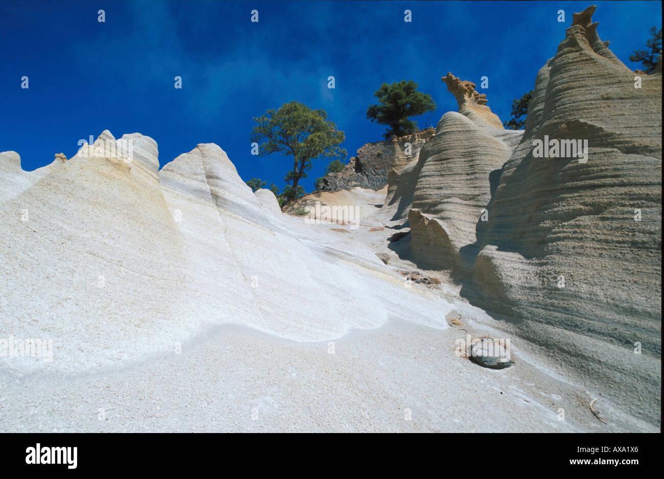 Paisaje Lunar, Mondlandschaft, Vilaflor, Teneriffa Kanarische Inseln, Spanien - Stock Image
