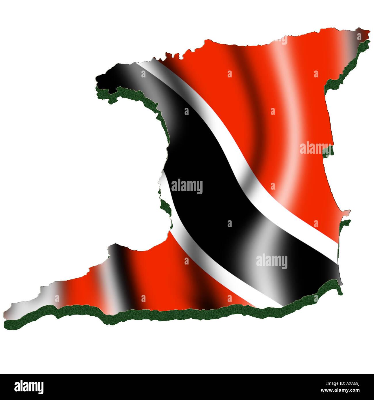 Trinidad And Tobago Map Stock Photos & Trinidad And Tobago ...