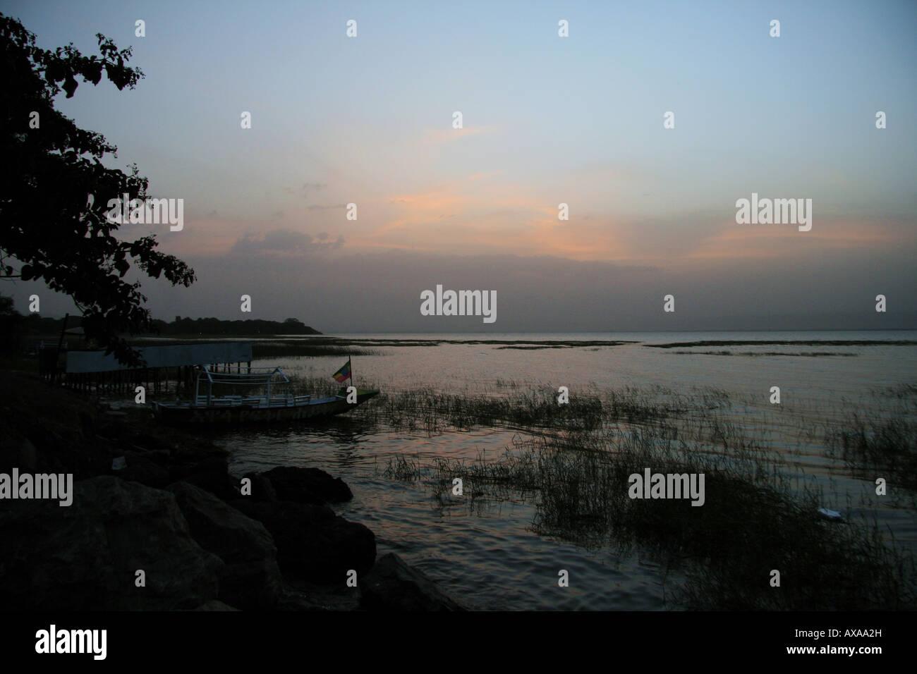 Lake Awasa, southern Ethiopia - Stock Image