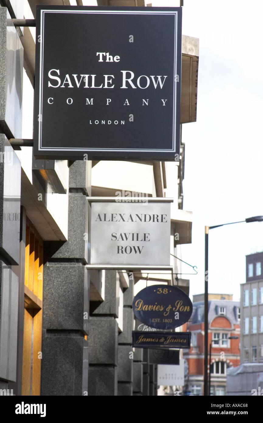 Savile Row London England Britain UK Saville - Stock Image