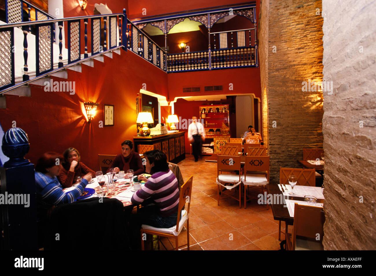 Spain, Seville, Pizzeria San Marcos, Santa Cruz Stock Photo: 1748734 ...