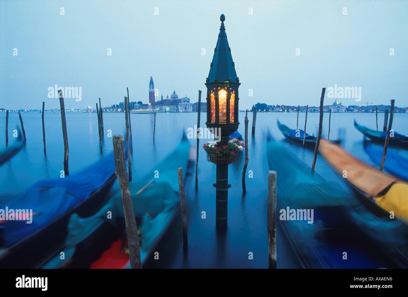 Gondeln, San Giorgio Venedig, Italien - Stock Image
