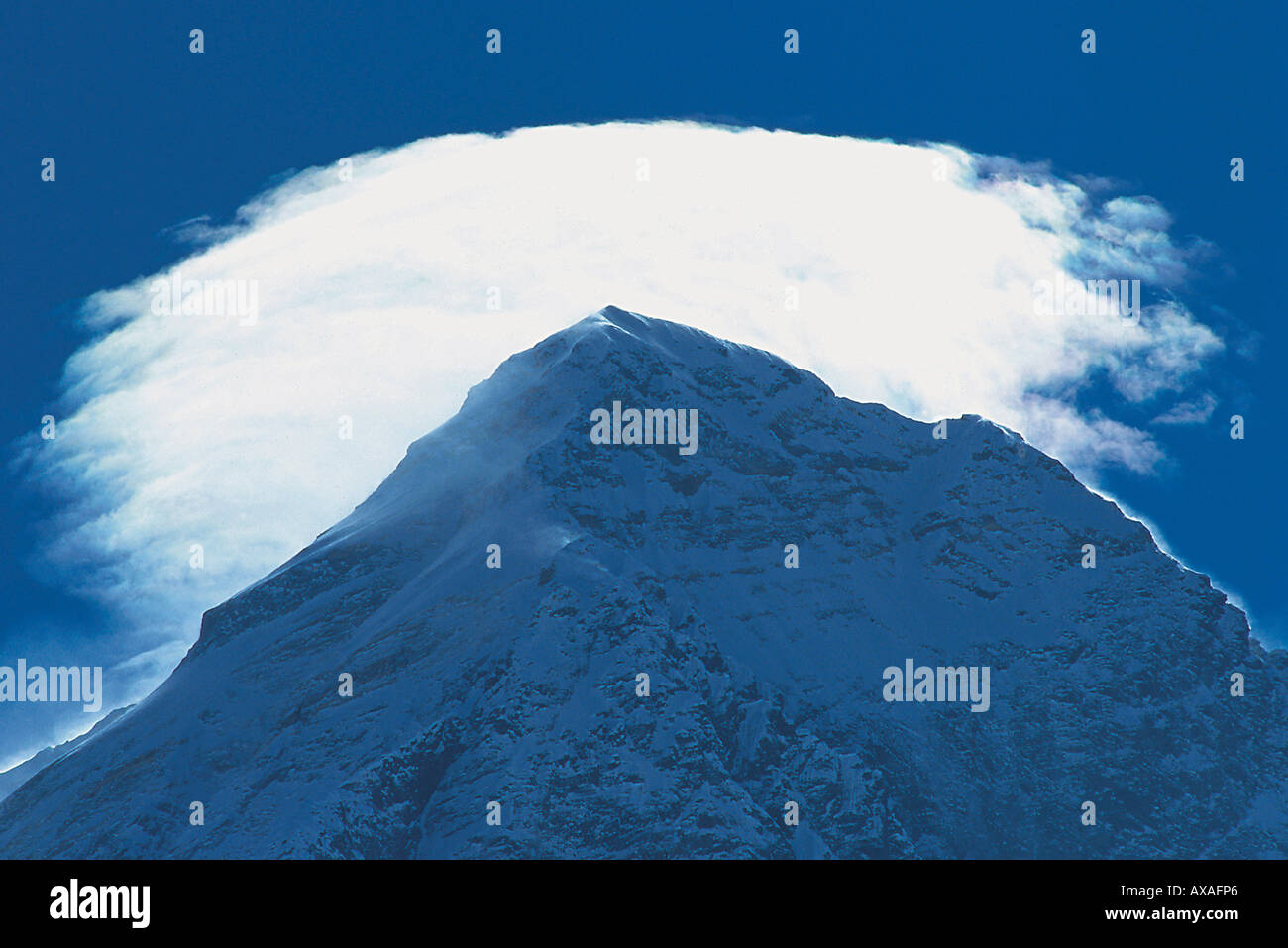 Mount Everest summit, 8, 848 m, Solu Khumbu, Nepal, Himalaya - Stock Image
