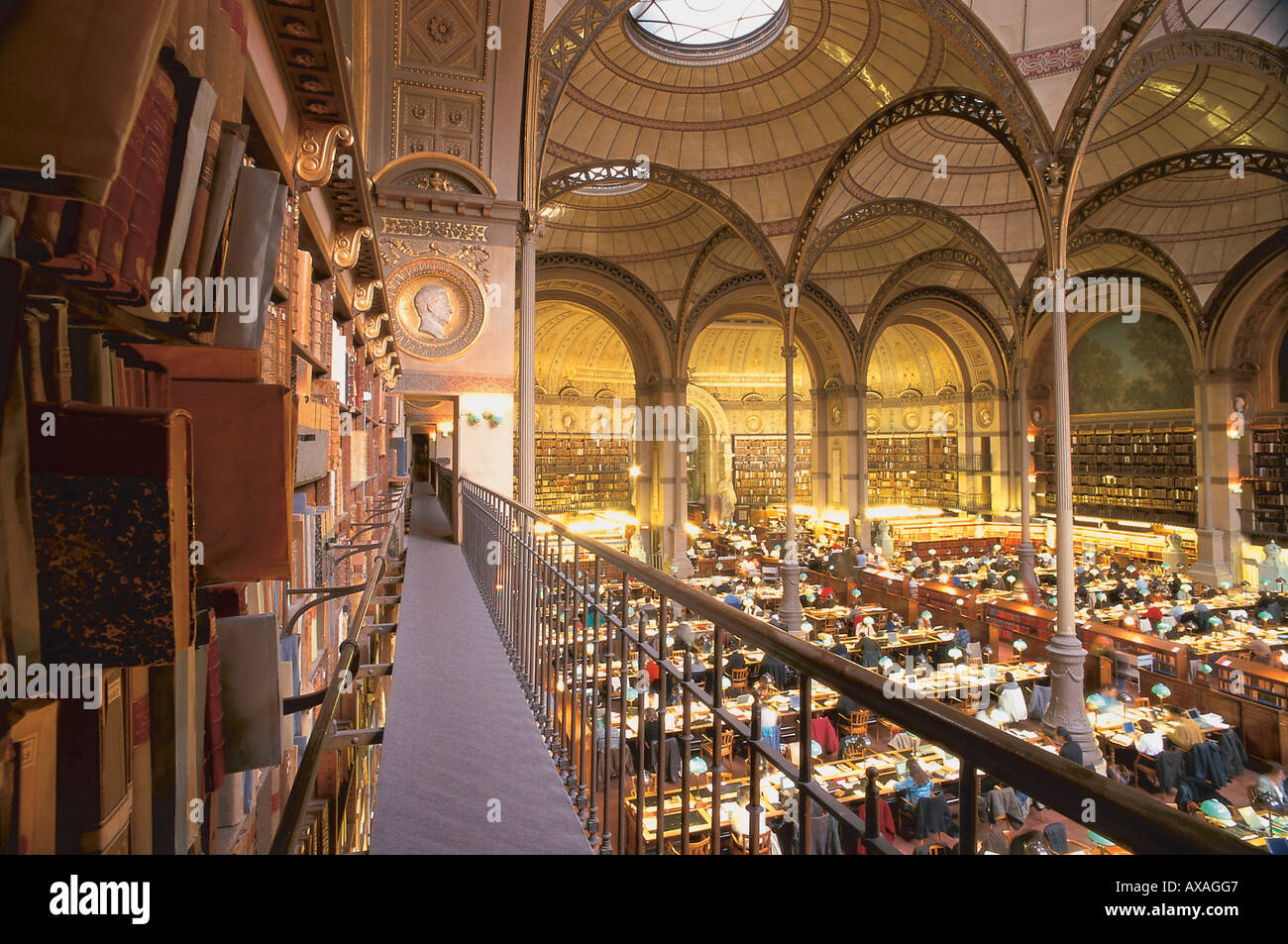Reading hall of the National library (Bibliotheque nationale de France), BnF, Paris, France - Stock Image