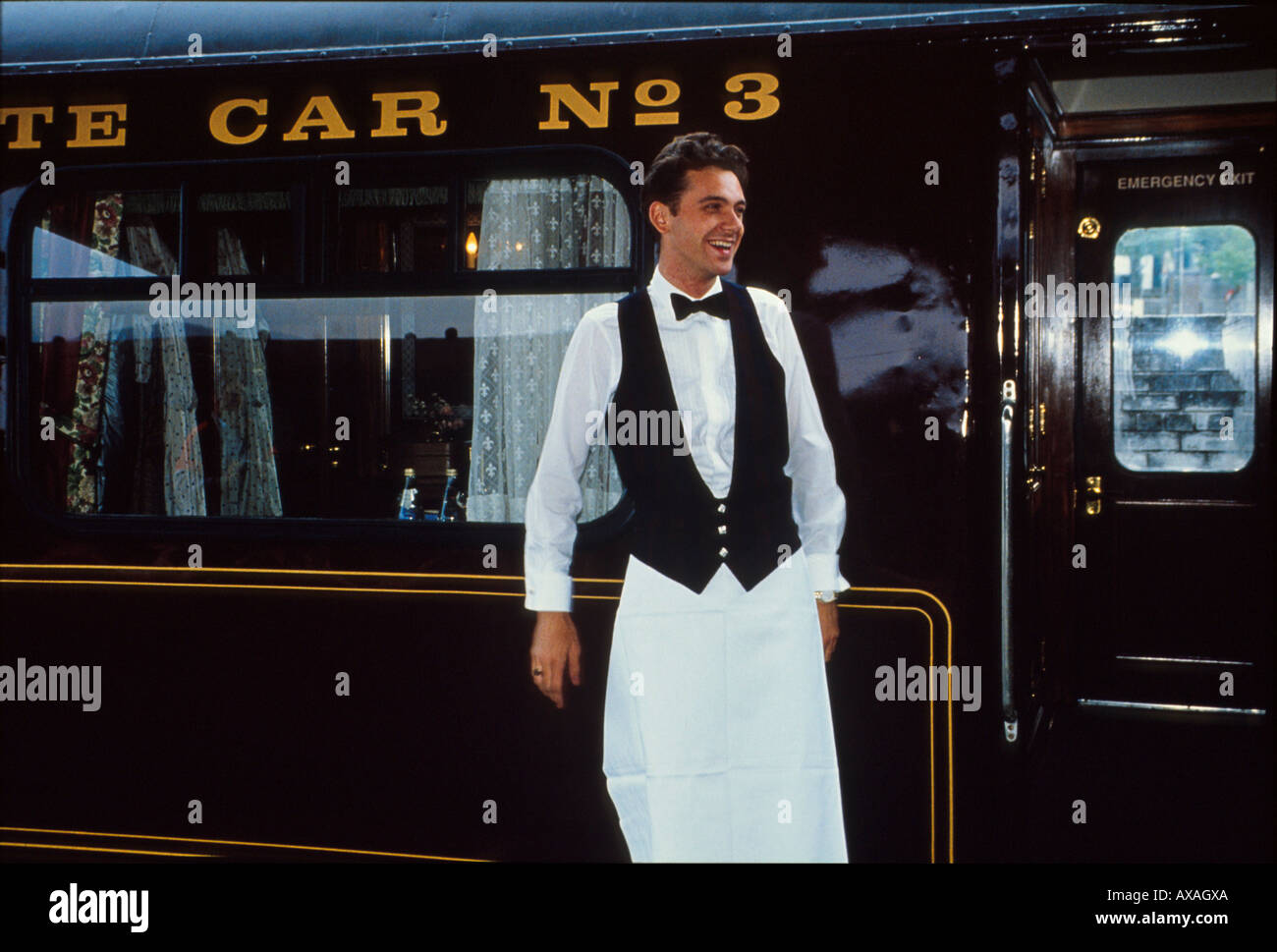 Waiter-Royal Scotsman, Scotland Great Britian - Stock Image