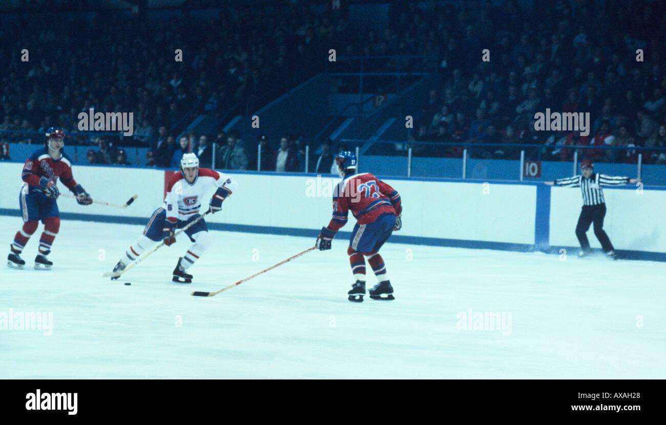 Semi Professional Hockey Game At Kingston Ontario Canada Stock Photo