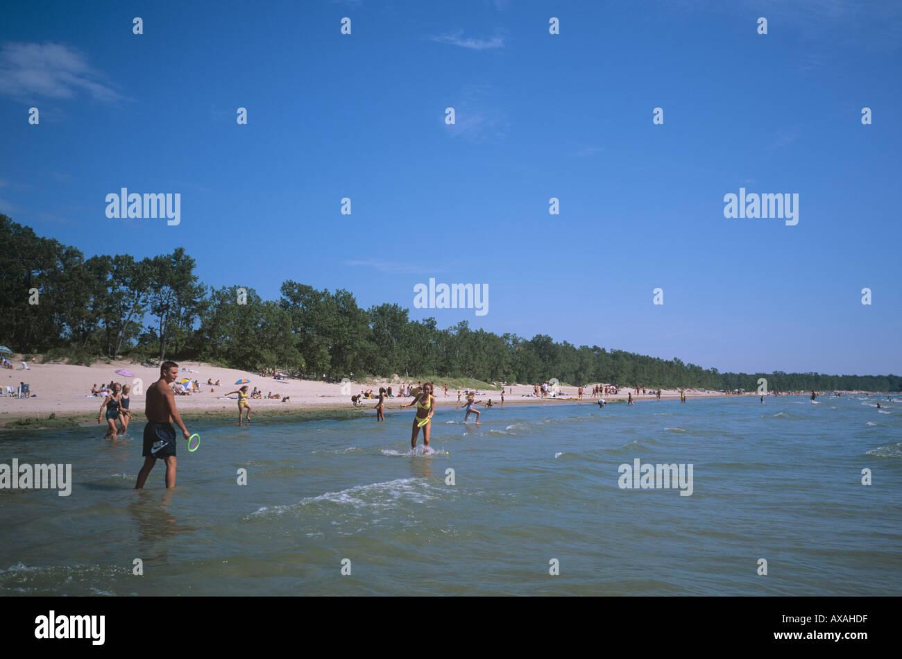 Outlet Beach near Picton Prince Edward County Eastern Ontario CANADA - Stock Image
