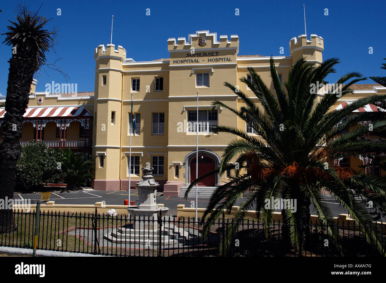 somerset hospital from granger bay boulevard cape town western cape province south africa - Stock Image