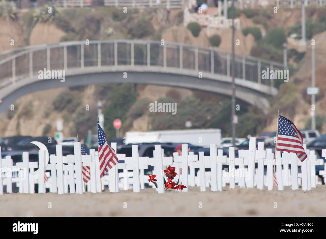 Veterans Day memorial - Stock Image