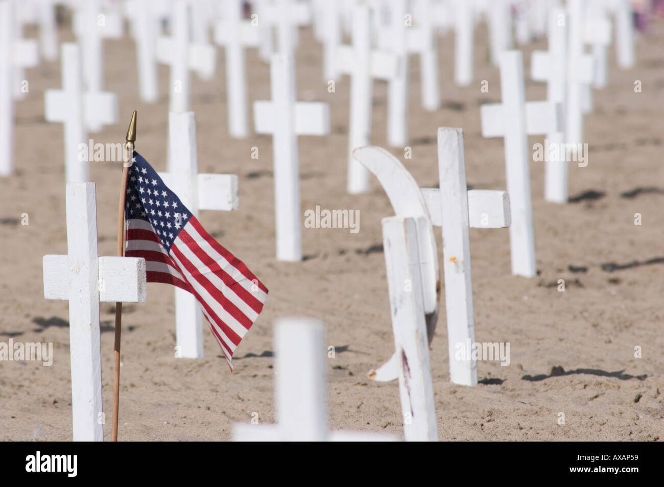 Iraq memorial, California - Stock Image