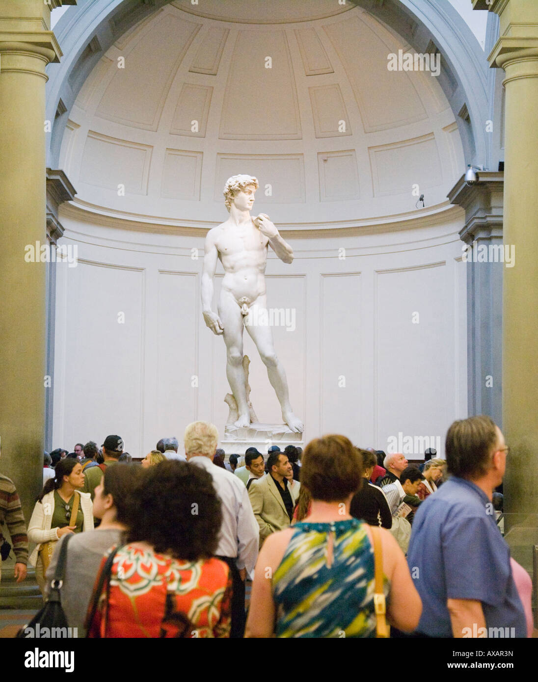 Michaelangelo s David in the Accademia Florence Italy - Stock Image