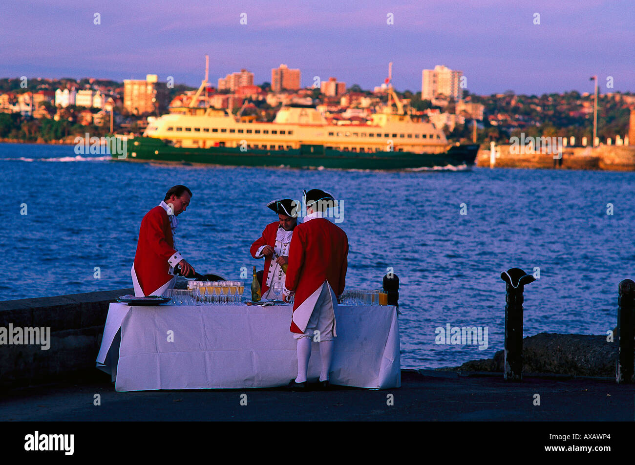Empfang, Mrs. Macquaries, Sydney, NSW Australien - Stock Image