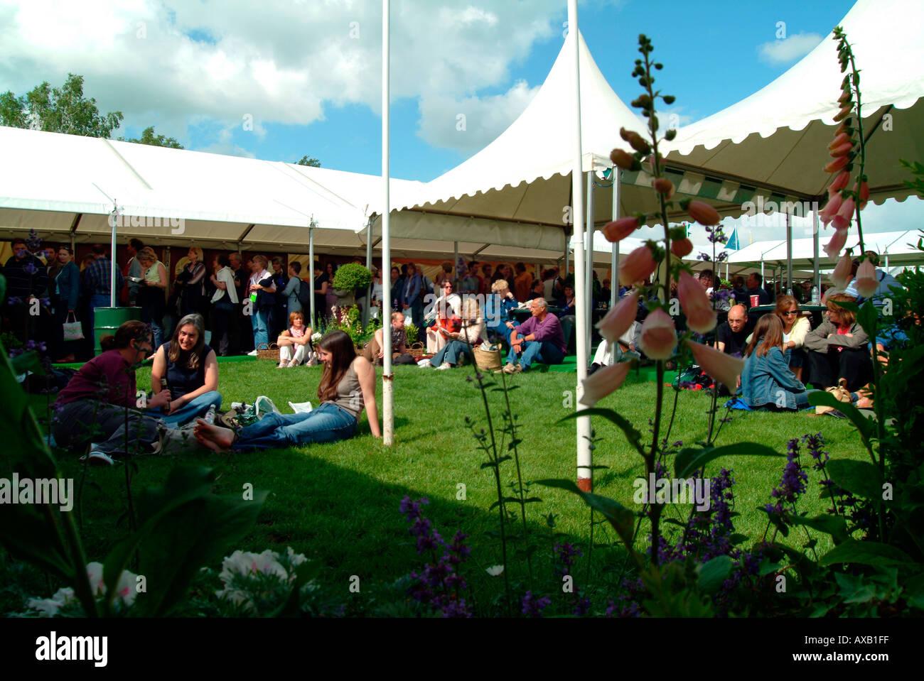 Hay on Wye book festival Wales UK - Stock Image