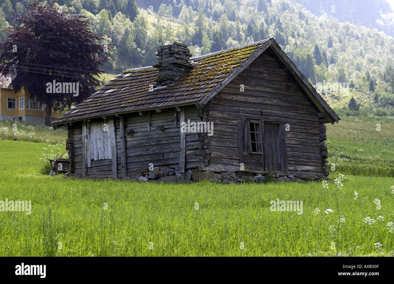 Sheppards Hut Olden Norway - Stock Image